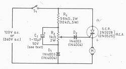 AC brushed motor, speed controller?