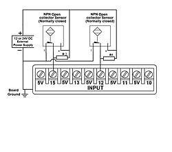 Need Help! Help with NPN proximity sensor wiring in parallel