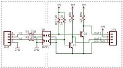 Opto isolators on the limit swtich