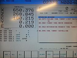 Need Help! EMCO MAXXTURN 65 alarm 2079 TURRET referencing failure
