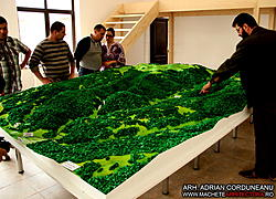 Largest Scale Model made with CNC Router-defileul-jiului-3-jpg