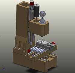 New Machine Build Large Epoxy Granite Vertical Cnc Mill