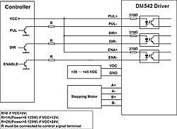 dma for driving nema oz dm542a for driving nema 23 425 oz typical connection dm542 jpg