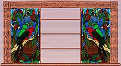 Arts and Crafts/Art Nouveau Leadlight Window Frame (+ Greene and Green Styled Frame)-01-jpg