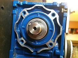 Motovario 15 1 gearbox w nema 23 motor mount for Nema 34 stepper motor mount