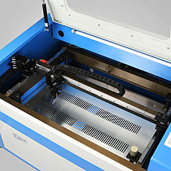 Chinese 50w laser cutter y axis cut quality