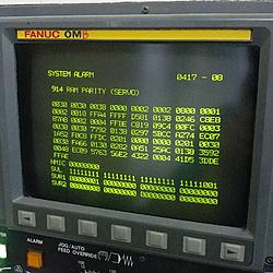 FANUC DOWN AGAIN  914 RAM Parity Servo OM-B