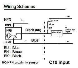 Npn NO proximity sensor question