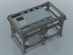 Epoxy granite in metal frame.-frame-model-jpg