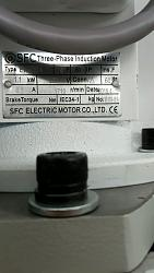 Tormach 1100m motor size