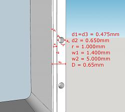 CNC aluminium wall/route thickness for static axial flange seal-dimensions-jpg