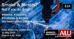 """Event in London - """"Lasers for Makers"""" - 22 May 2019: Learn, network, share-lasers-makers-copy-jpg"""