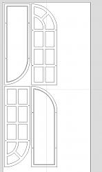 Digitizing a mirror decor diagram and cutting the parts-nested-jpg