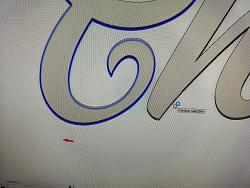 I cannot generate a 2D contour tool path for the word CHRISTMAS-christmas-pic-jpg