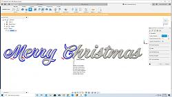 I cannot generate a 2D contour tool path for the word CHRISTMAS-merry-christmas-jpg