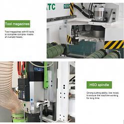 ATC CNC router 1325 with 16 tools for wood panel cabinet furniture-h0e45cde5e2bd40cb9744623e3f61a2a76-jpg