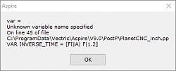 PostProcessors Vectric-err_pp_vectric-png