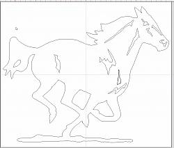 traced a paper diagram of a running  horse-file-pic-jpg