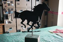 traced a paper diagram of a running  horse-p1010248-jpg
