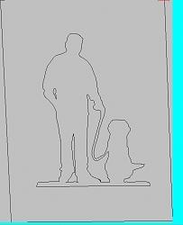 digitizing a diagram of a dog on a leash-draw-jpg