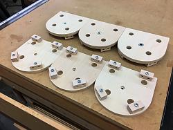 Video camera isolation mounts-005-clamps-finished-jpg