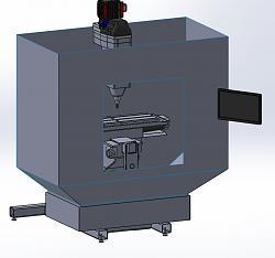Boss 8 CNC retrofit and 5 HP upgrade - Build thread-enclosure-concept-jpg