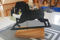 tracing out 4 weather vane printed diagrams-horse-jpg