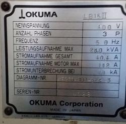 Okuma LB15 Machine-name-plate-jpg