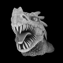 Gray scale height map for pattern-dragon-bust-002-jpg