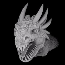 Gray scale height map for pattern-dragon-bust-jpg