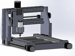 CNC Router - Medium Size with Focus on Aluminum Machining-overall-jpg