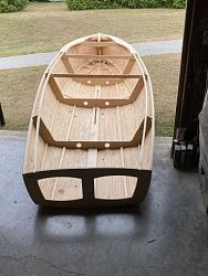 video #2 assembly of the parts for a sail boat, drawing the bottom panels-net2a-jpg
