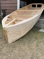 video #2 assembly of the parts for a sail boat, drawing the bottom panels-net3-jpg