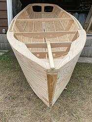 video #2 assembly of the parts for a sail boat, drawing the bottom panels-net4-jpg