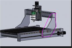 CNC router build to machine wood and aluminium (1mX1mX0.4m)-column-jpg