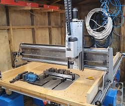 Who has lifted a 4.5kw Z axis with a Nema 23?-front-gantry-two-jpg