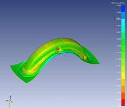 need help to understand the deep draw simulation result-thickness-jpg