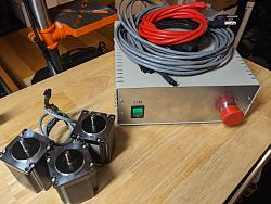 Soigeneris STDR-4C 4 axis CNC stepper drive w/ Gecko 540, smoothstepper, and motors-pxl_20201022_002316075-jpg