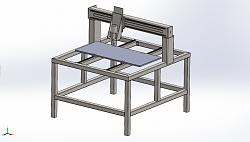"4' x 4' x 9"" Welded Steel Frame Fixed Gantry CNC Router-machine-concept-jpg"