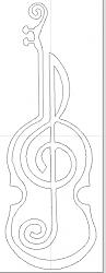 to digitize a diagram of a violin profile with a music note-file-jpg