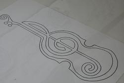 to digitize a diagram of a violin profile with a music note-violin3-jpg