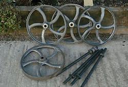 Cast Bench Top CNC Build-wheels-jpg