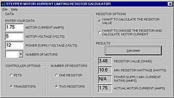 StepperCalc unipolar resistor calculator-cnczzg-jpg
