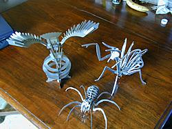 3d puzzle dxf files-eagle_spider_mantis-jpg