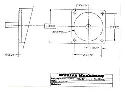 nema 23 34 bolt pattern end frame size in measurements