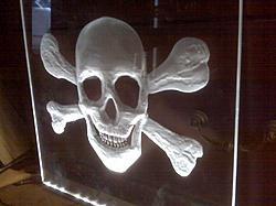 Skull and Bones Lithophane-skull-bones-side-jpg