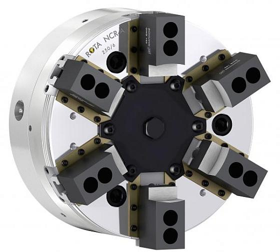 Sealed 6-jaw power chuck with pendulum compensation