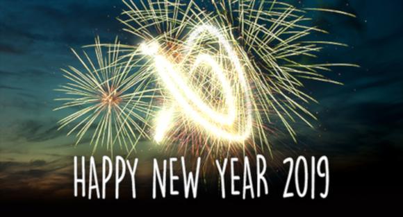Happy new year 2019 header